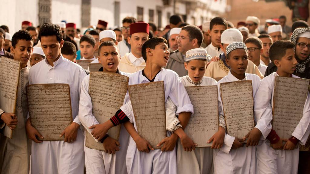 Moroccan children head to the Great Mosque of Sale to pray for rain on November 24, 2017 near the capital of Rabat. Parched Morocco which is heavily dependent on its agricultural sector is holding prayers for rain in mosques across the country under a royal decree. Like its Iberian neighbours to the north, Portugal and Spain, Morocco has suffered a severe shortage of rainfall since the end of the summer. Moroccan university studies show that temperatures have risen by up to 4 degrees Celsius since the 1960s and annual rainfall been on the decline.
