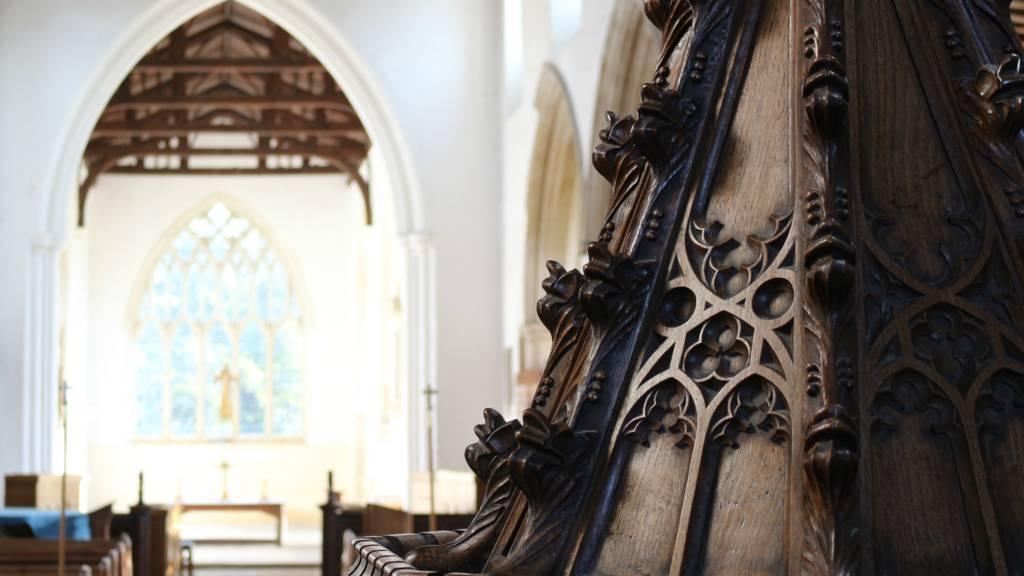 Inside St Mary's Church, Ashwell