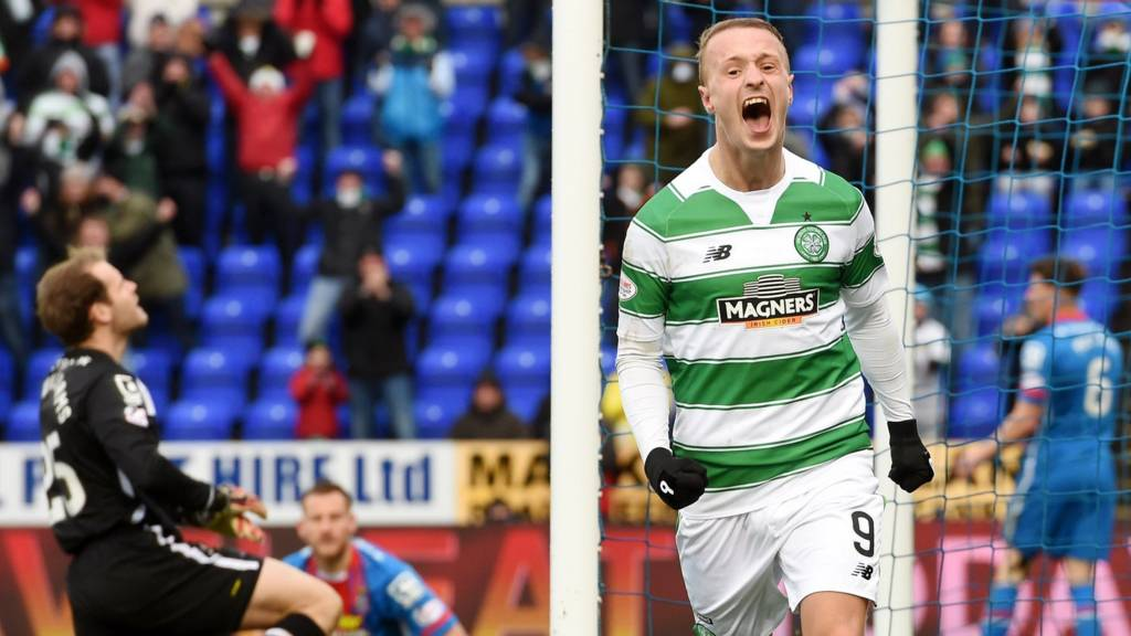 Leigh Griffiths celebrates after scoring for Celtic against Inverness CT