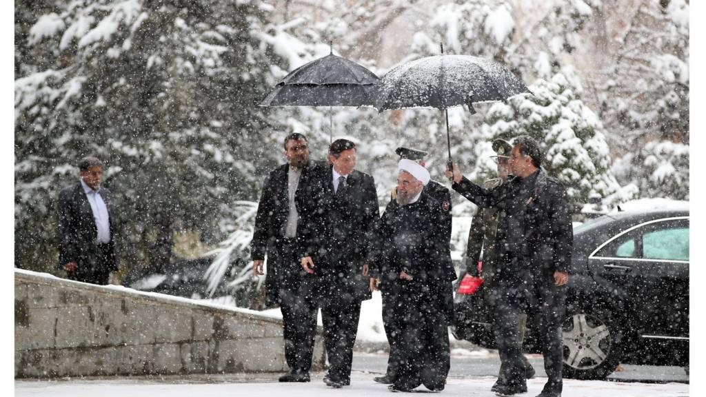 روسای جمهور ایران و اسلوونی در تهران