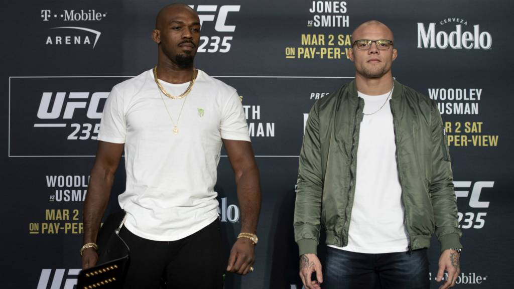 Jon Jones and Anthony Smith