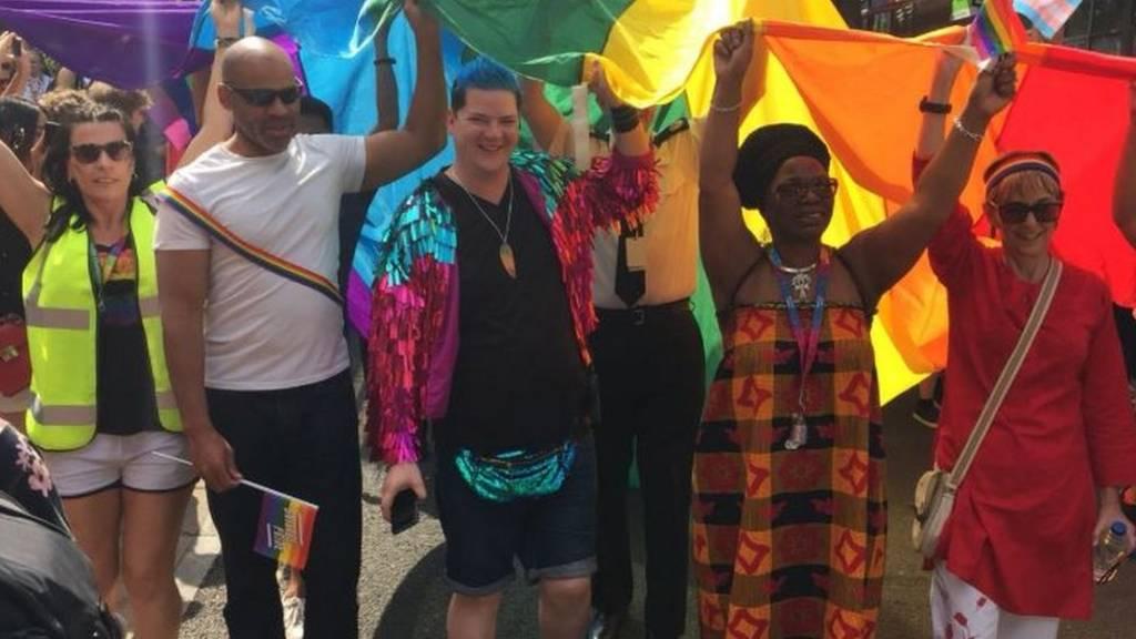 Pride parade leaders