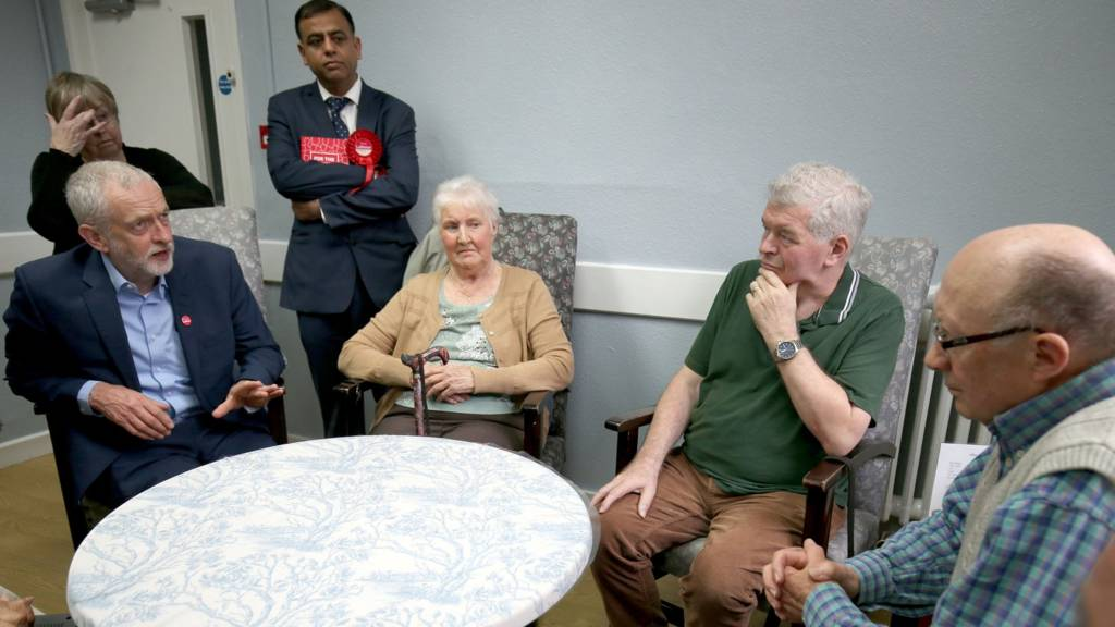 Jeremy Corbyn and pensioners