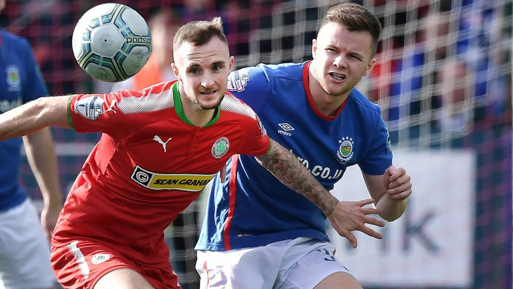 Action from Cliftonville vs Linfield