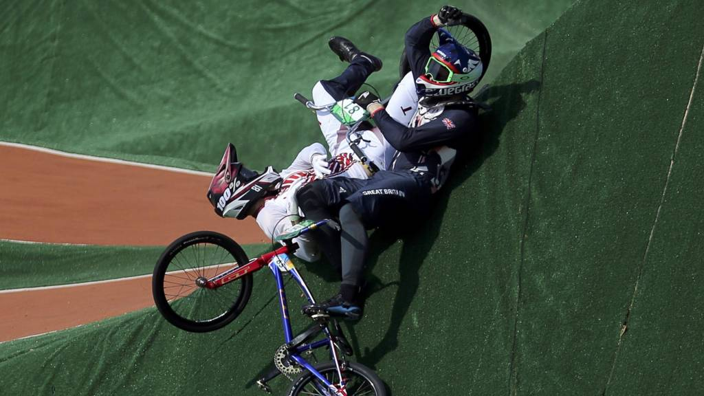 Liam Phillips crashes out of the Olympics