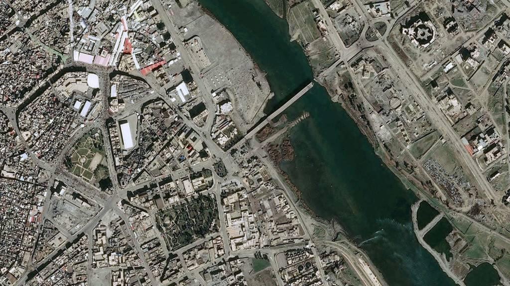 عکس هوایی پل موصل