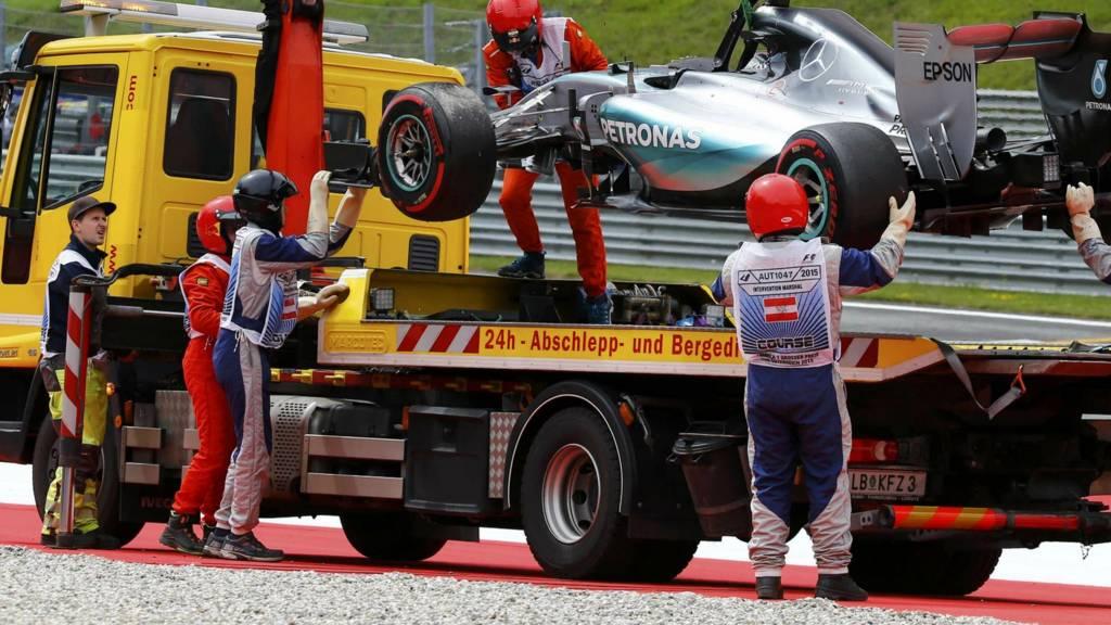 Nico Rosberg's Mercedes'