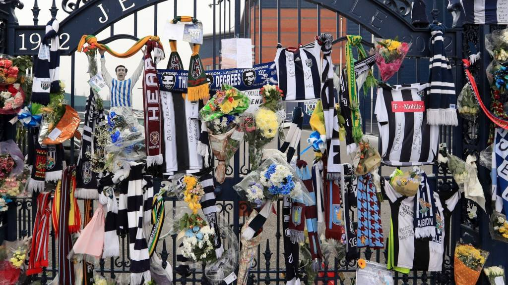 Tributes to Cyrille Regis at The Hawthorns