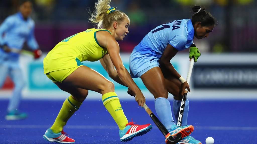 Australia v India hockey