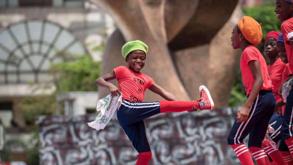 A child dancing in Lagos, Nigeria