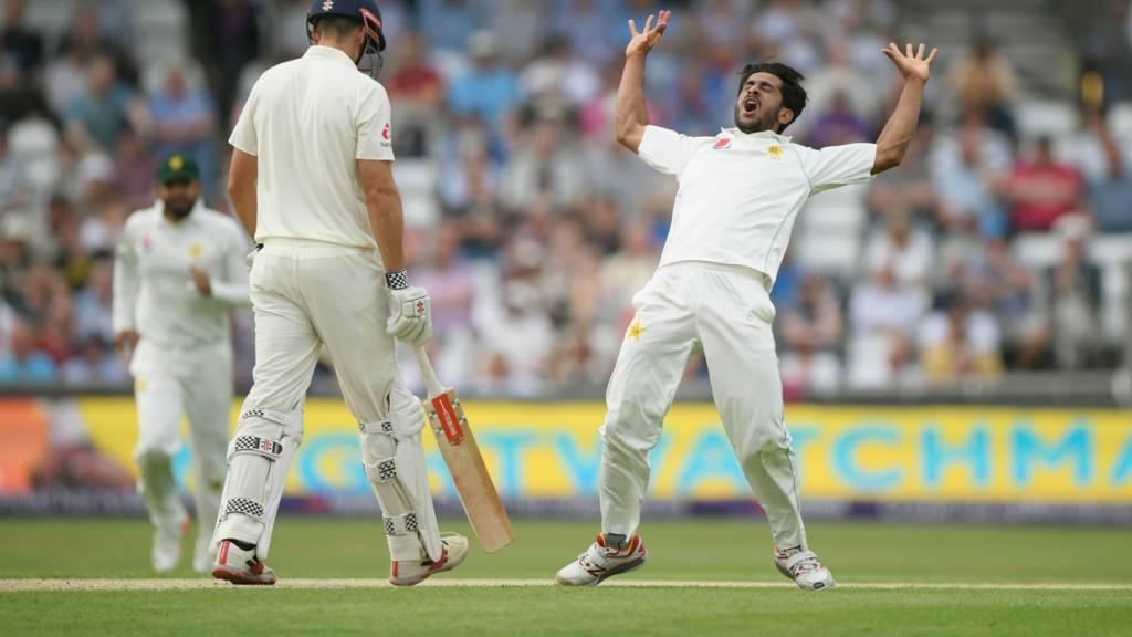 Hasan celebrates dismissing Alastair Cook
