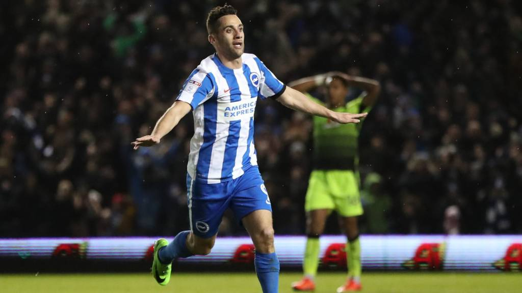 Brighton striker Sam Baldock