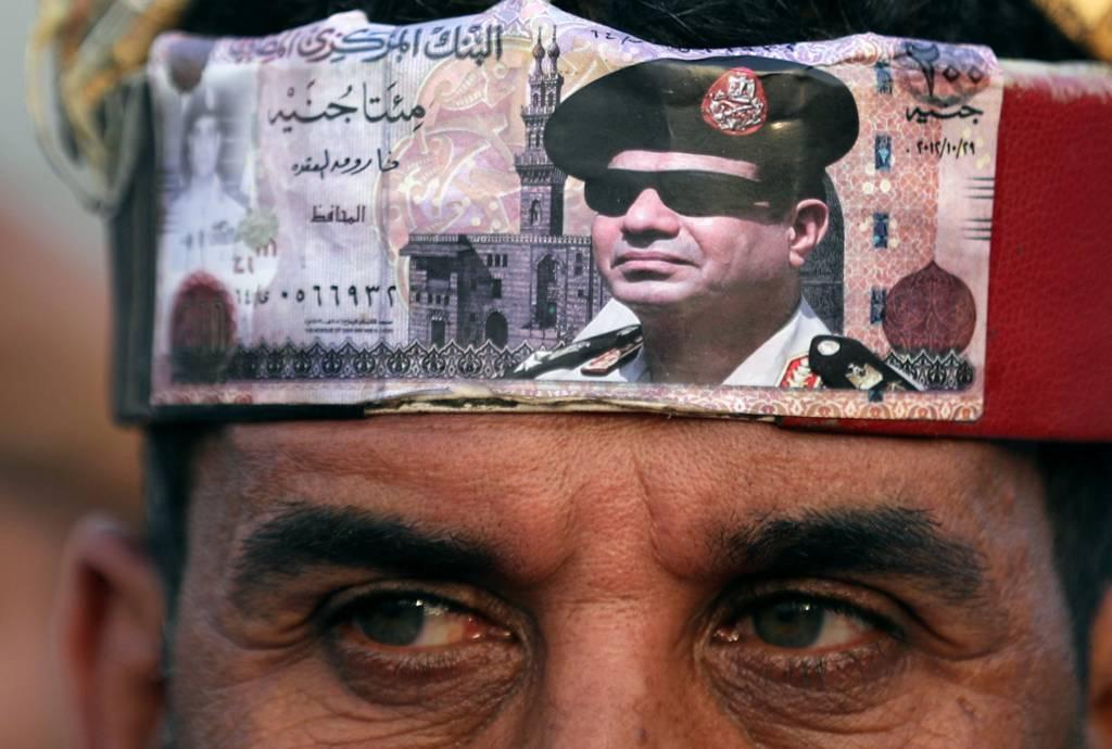 أحد أنصار السيسي في ميدان التحرير بعد إعلان نتائج الانتخابات الرئاسية