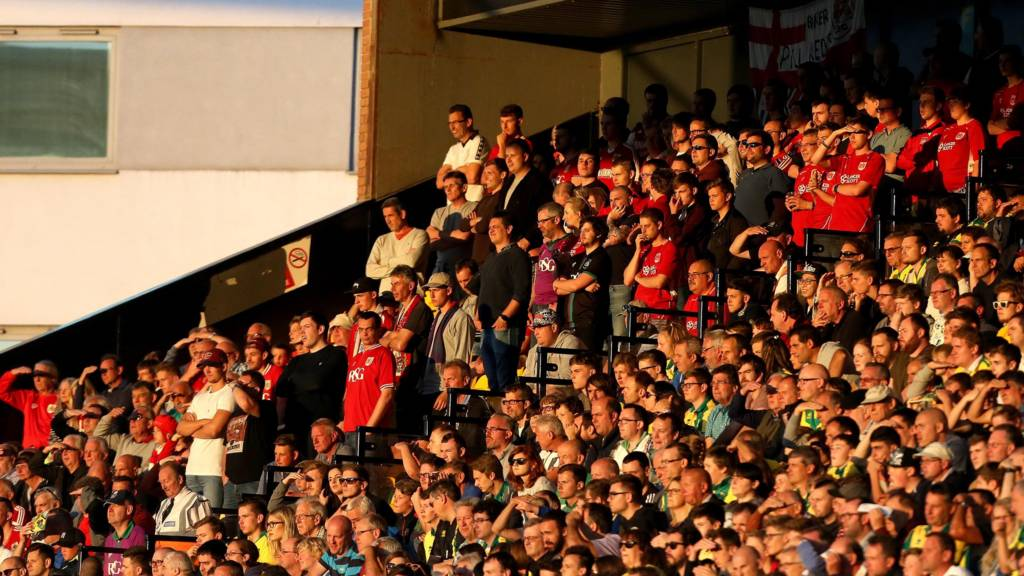 Bristol City fans at Norwich