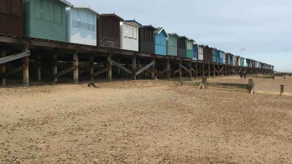 The Whalings beach huts, Frinton-on-Sea