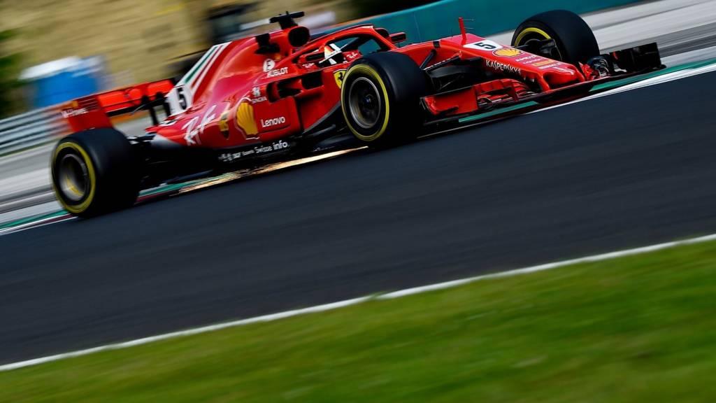 Sebastian Vettel in action for Ferrari