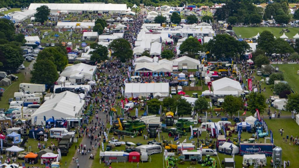 Aerial shot of Suffolk Show