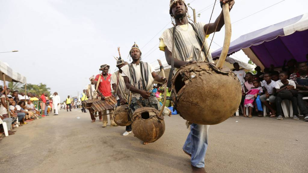 Traditional musicians in Ivory Coast