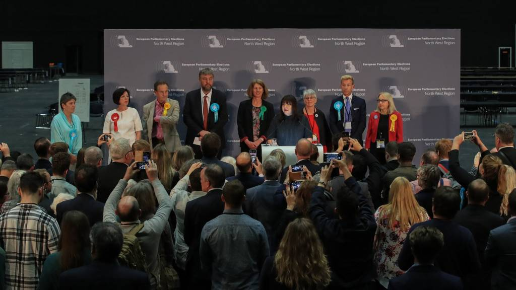 European election results announced in Manchester
