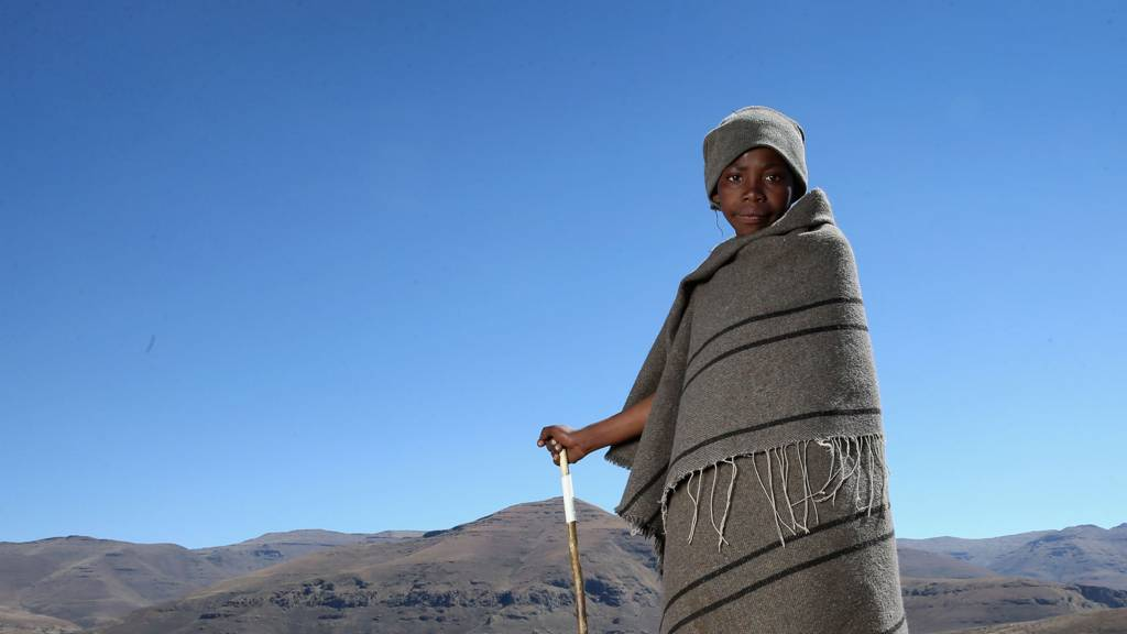 A boy in the mountains of Lesotho