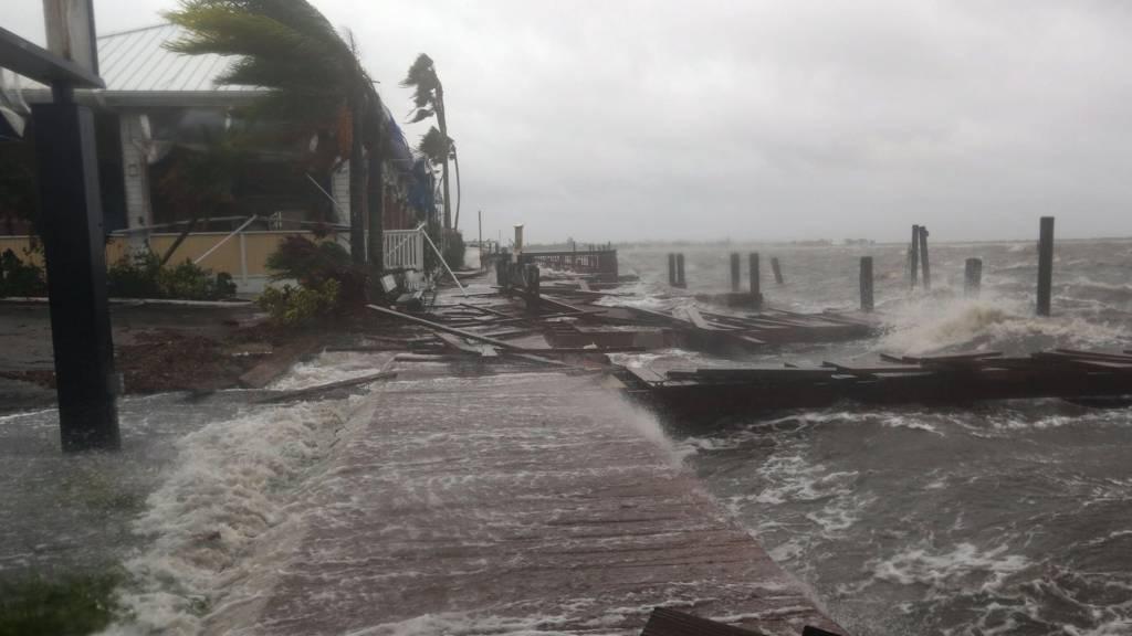 Coast battered by Matthew