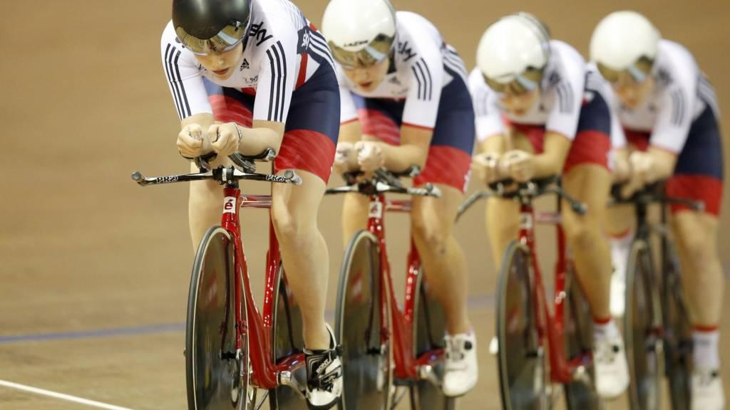 Team GB on the track