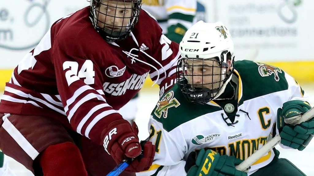 Friendship Four NCAA Ice Hockey action