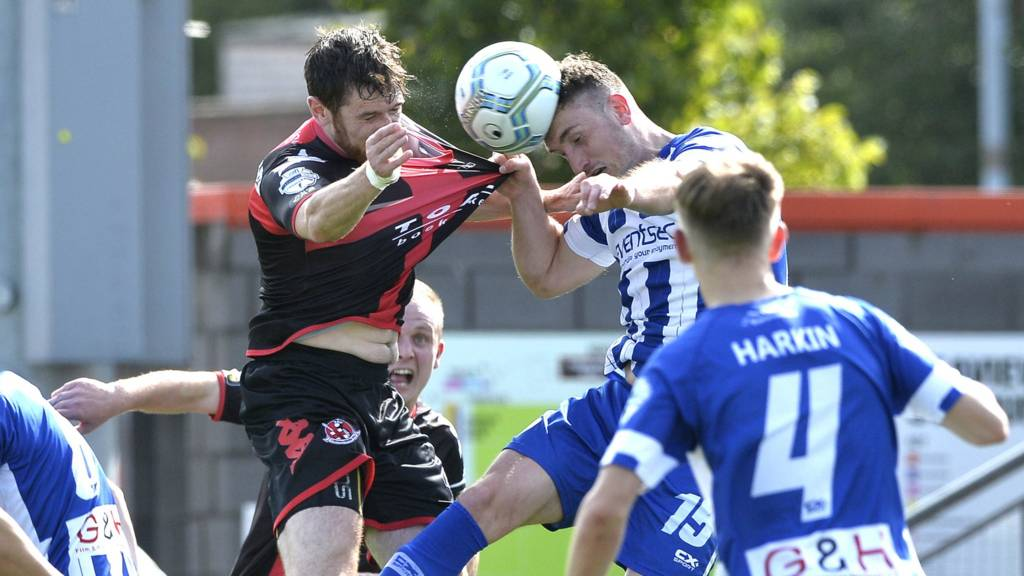 Action from Crusaders against Coleraine