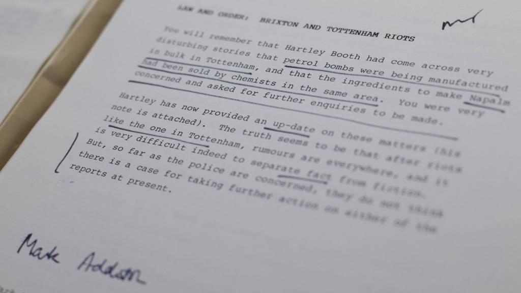 1985 report on the Tottenham Riots