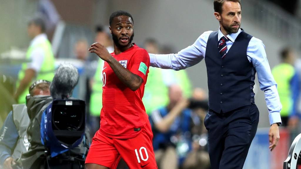 Raheem Sterling and Gareth Southgate