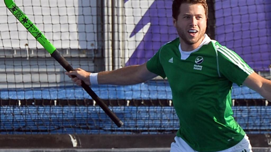 Kyle Good celebrates scoring for Ierland