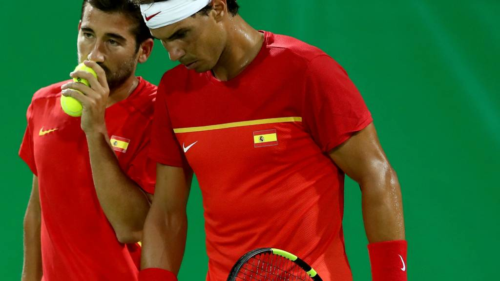 Rafa Nadal and Marc Lopez