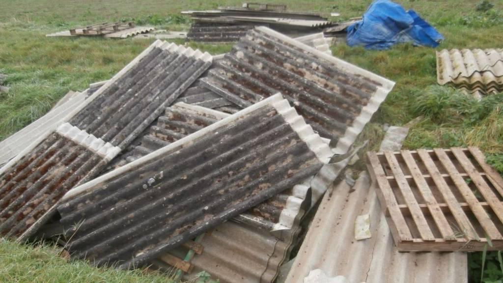 Dumped asbestos