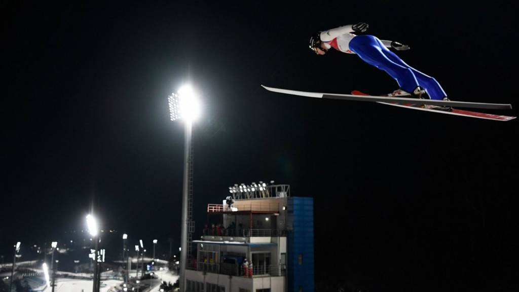 Men's normal hill individual ski jumping