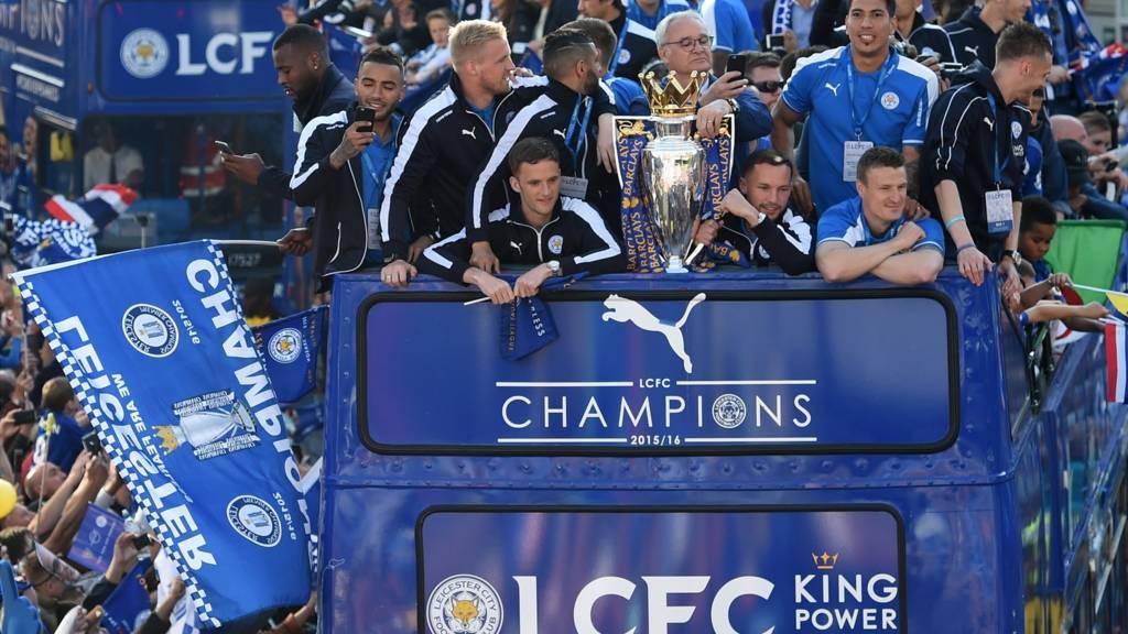 Leicester City open top parade