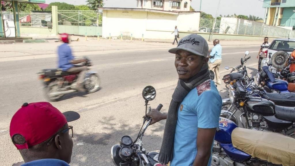 motorbike taxi kinshasa
