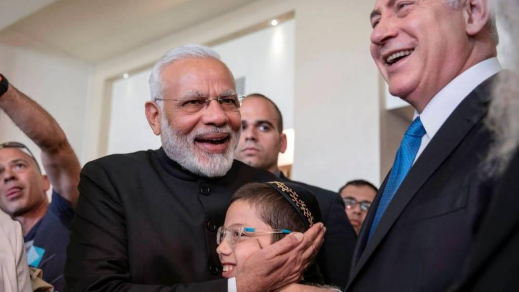 نتانياهو ومودي في الهند