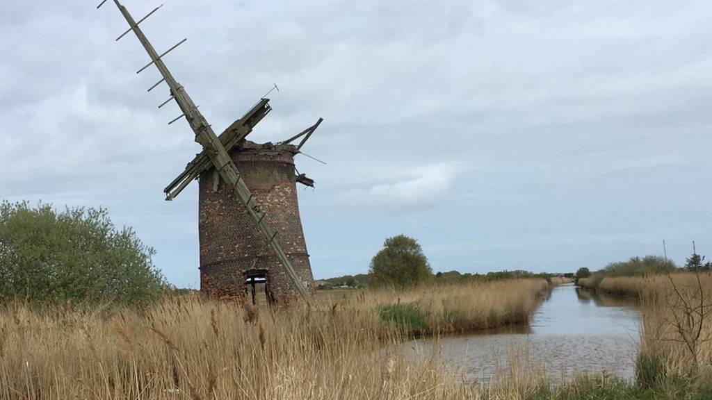Derelict windmill near Horsey
