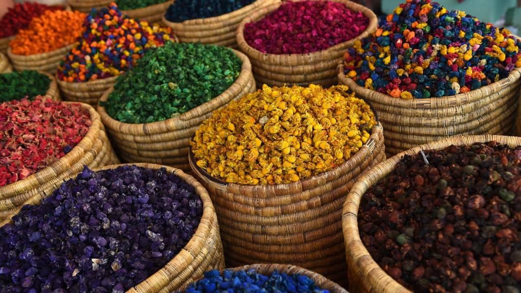 Herbs in Marrakech market