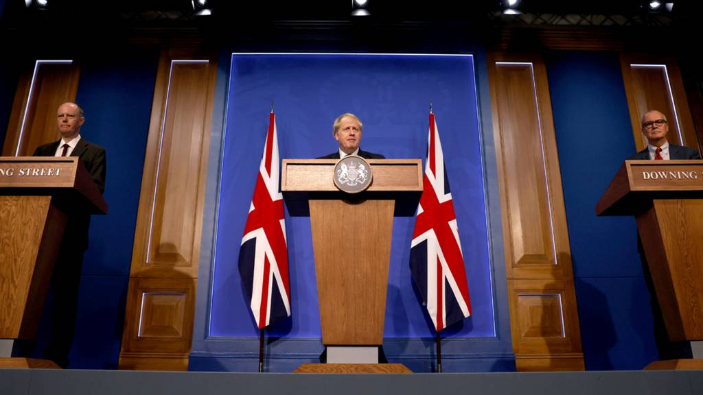 Chris Whitty, Boris Johnson, Patrick Vallance