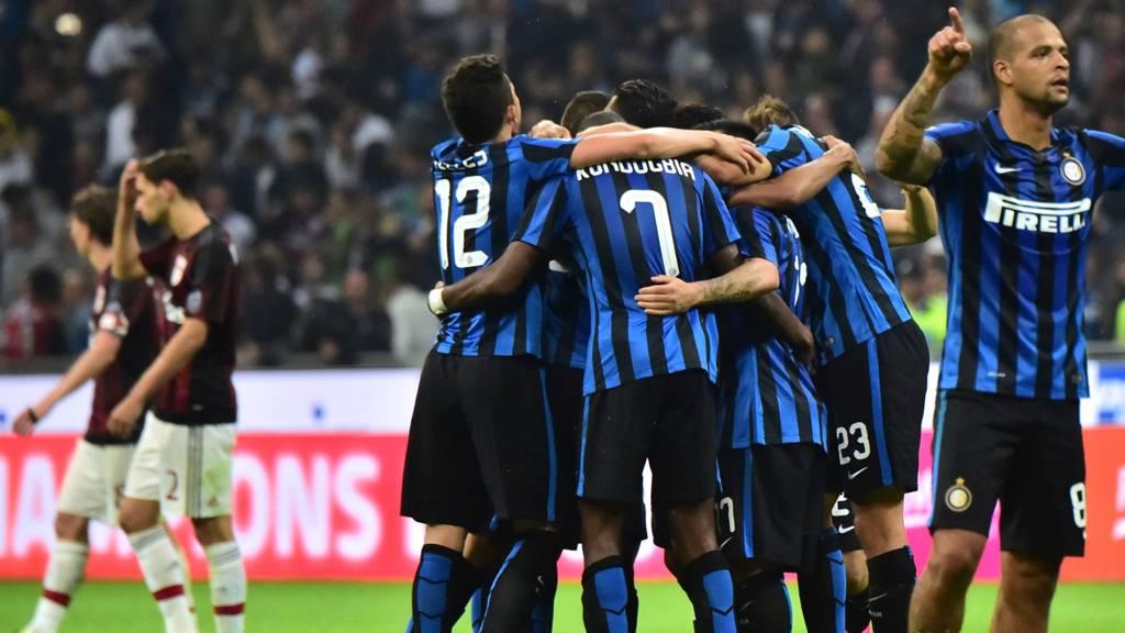Inter celebrate