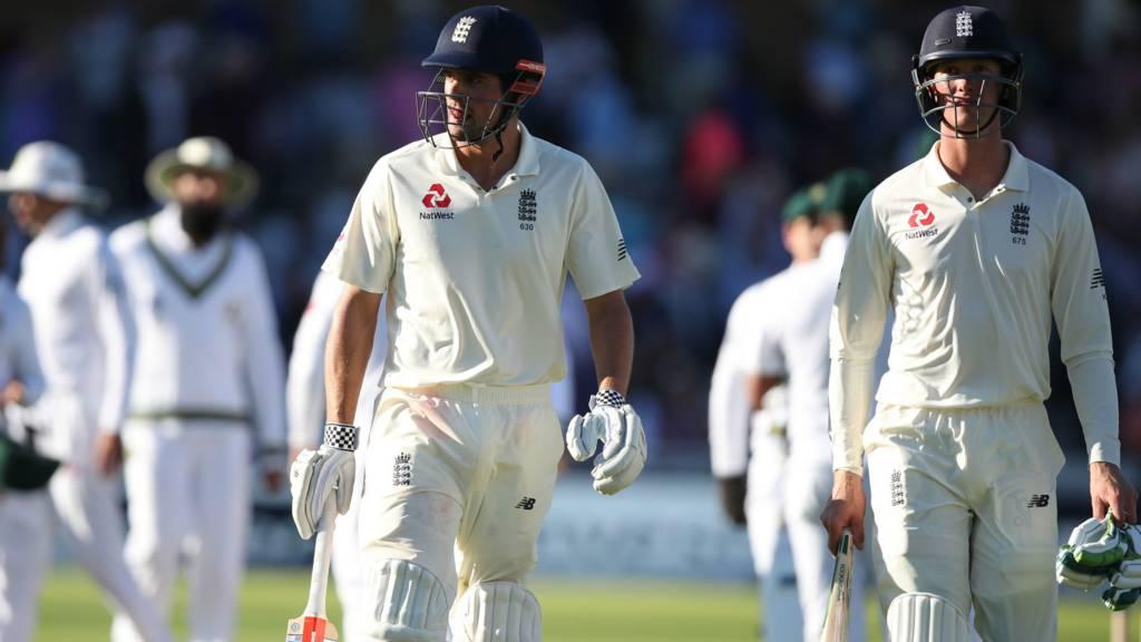 England's Alastair Cook and Keaton Jennings