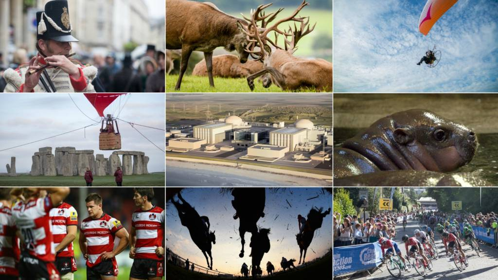 A montage of pictures relating to the West of England