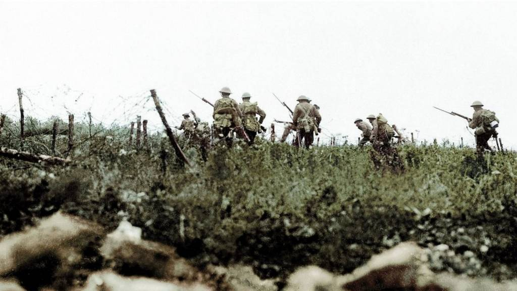 British infantry in the Battle of Somme