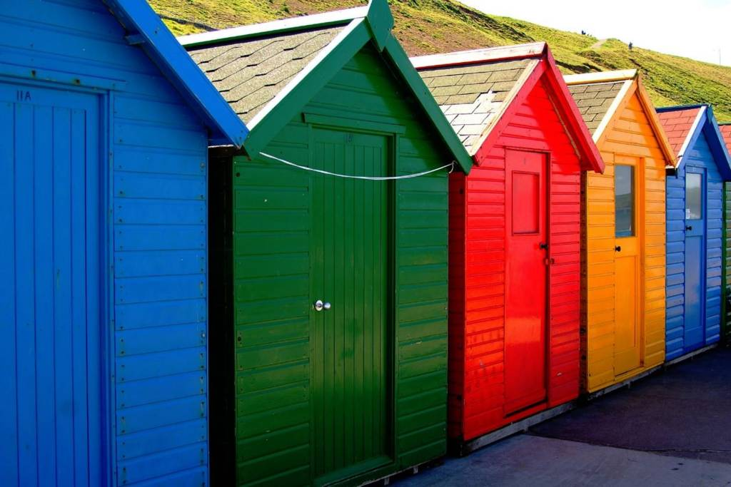 Beach Huts at Scarborough