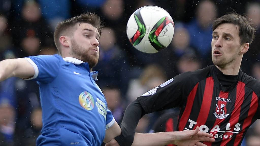 Action from Crusaders against Linfield