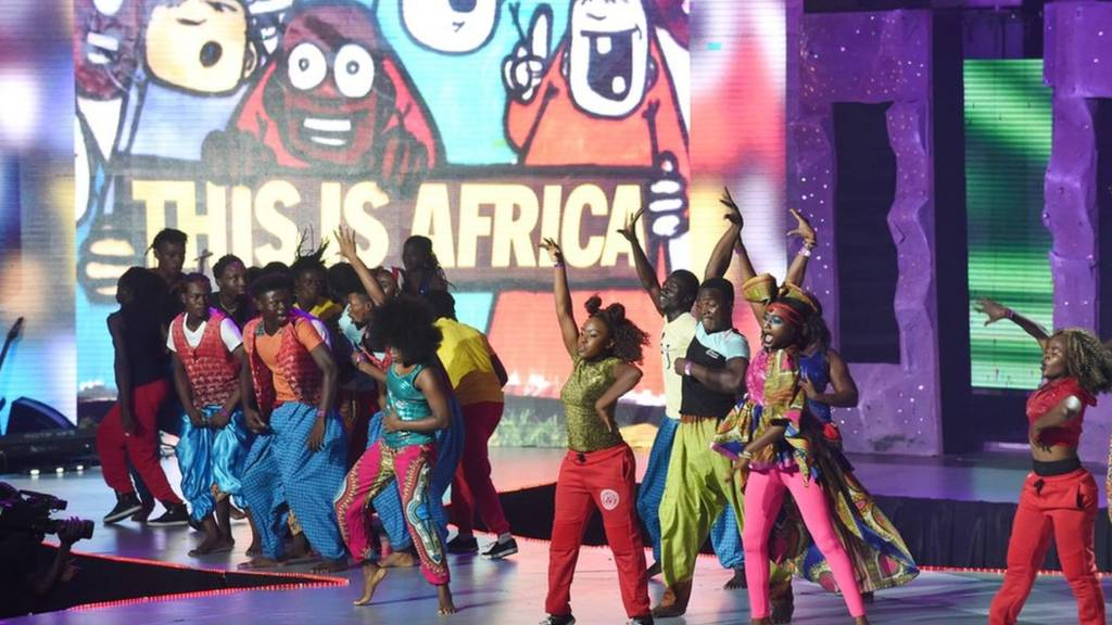 Dancers perform during the All Africa Music Awards (Afrima) ceremony, Lagos, Nigeria - Sunday 6 November 2016