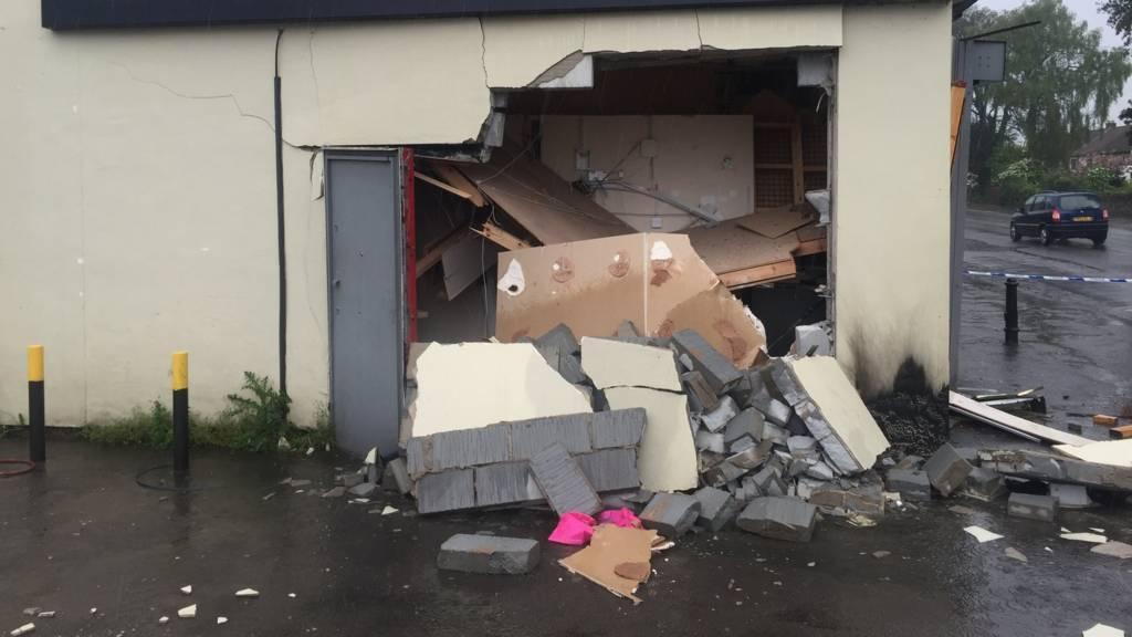 Cash machine attack in Yate