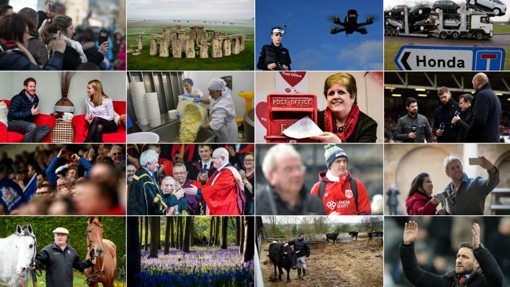 A composite of West Country images