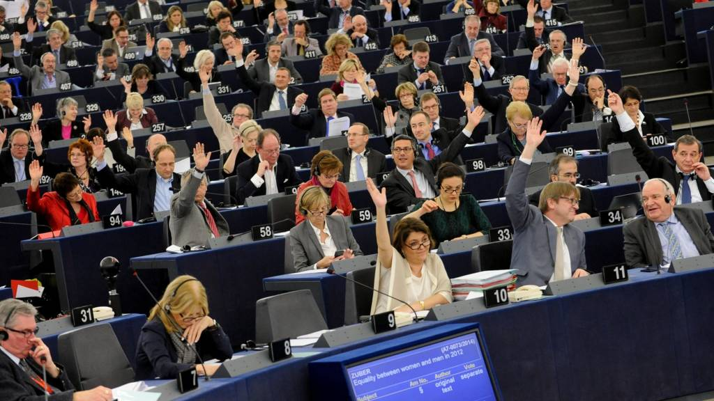 Voting session at the European Parliament in Strasbourg